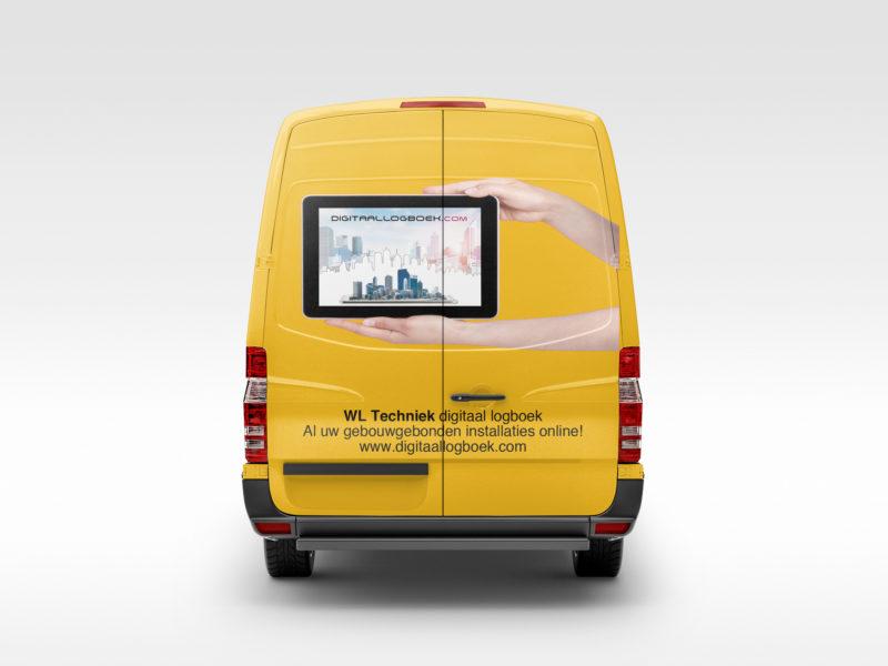 Belettering - Bedrijfsauto belettering voor WL Techniek