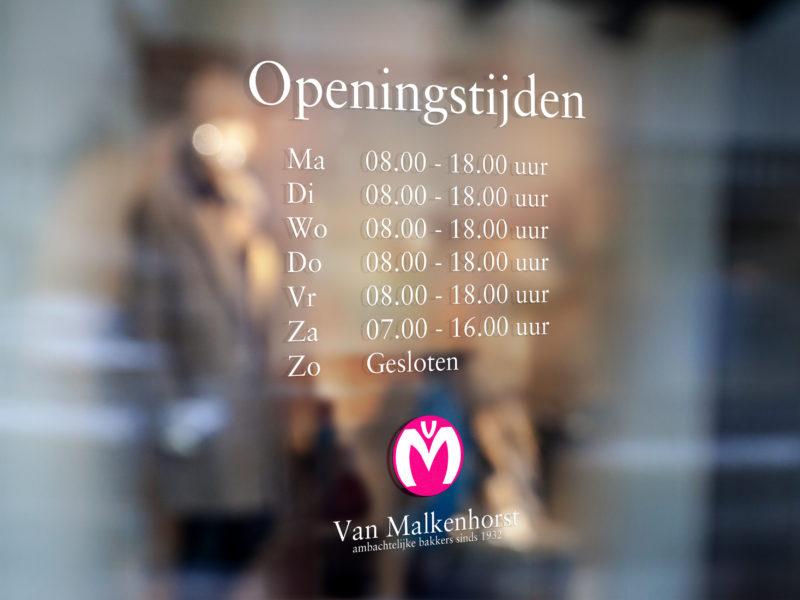 Belettering - Raambelettering voor Bakker Van Malkenhorst