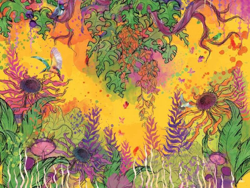 Illustratie - Wallcover Illustratie voor 20Nu