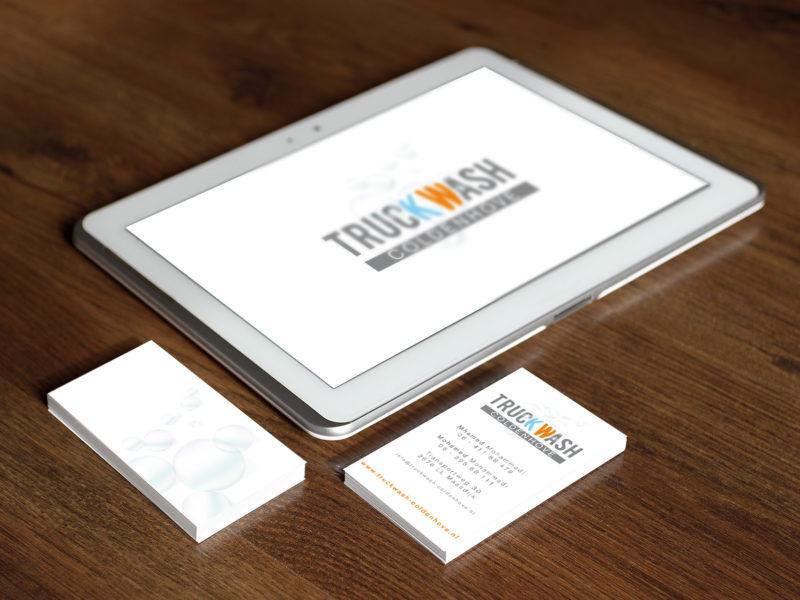 Ontwerp - Logo en visitekaartje voor TruckWash
